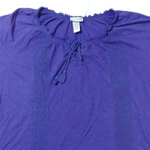 Royal purple hippie t-shirt sz 3X